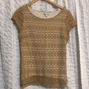 Two tops- Banana Republic Sz 12 and Old Navy M
